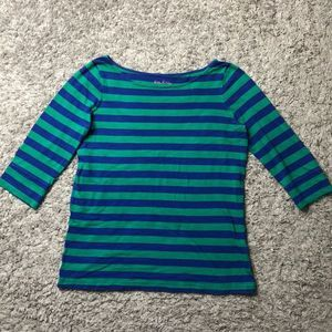 Lilly Pulitzer blue and green striped T-shirt